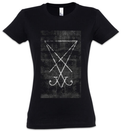 Tarot Sigil of Lucifer Damen T-Shirt Card Devil Satan Siegel von Luzifer Karte