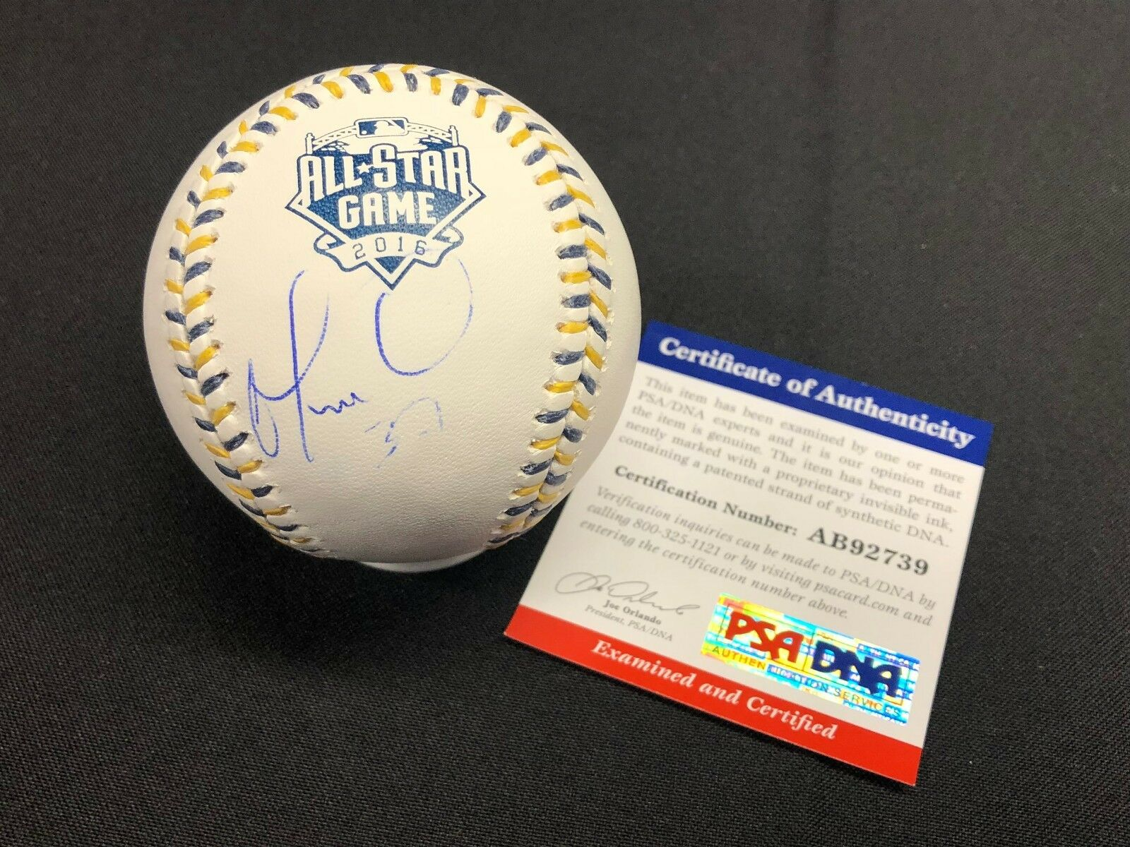 Odubel Herrera Signed 2016 All-Star Game Major League Baseball *Phillies PSA