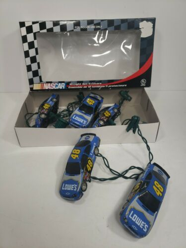 Christmas Nascar Jimmie Johnson #48 Lowes Set Of 5 Party String Lights Cars