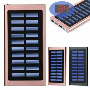 900000mAh Charger Power Bank tragbare Digitale Solar 2USB Batterie Powerbank
