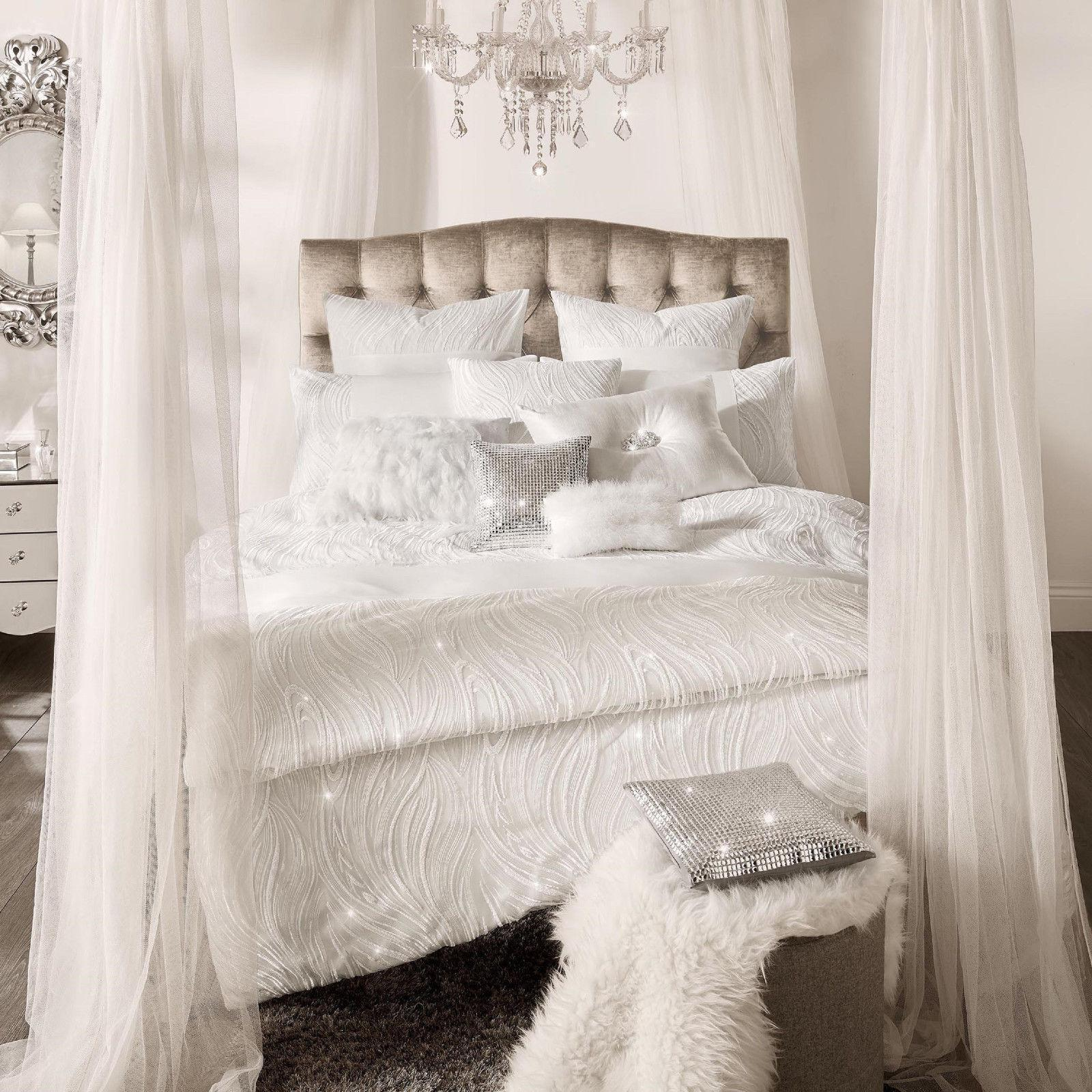 Renata Oyster Bedding by Kylie Minogue At Home Duvet Cover Cushion Pillowcases