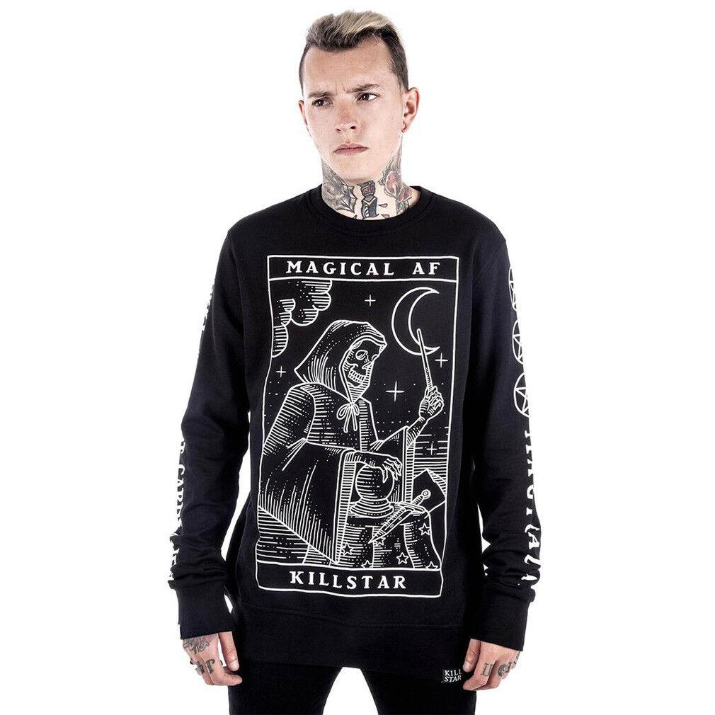 Kill Star gothic goth occulta Pullover-Magical AF Grim Reaper Grim Tarot