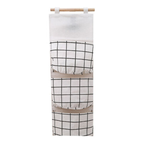 Hanging Storage Bag 3 Pockets Wall Mounted Wardrobe Hang Bag Wall Decor HU