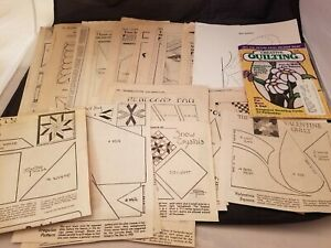 31-Vtg-1920-30-039-s-Quilt-Patterns-Old-Newspaper-Clippings-Misc-Patterns-Book
