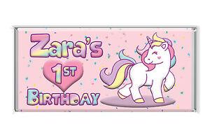 unicorn Birthday Chocolates Personalised to suit