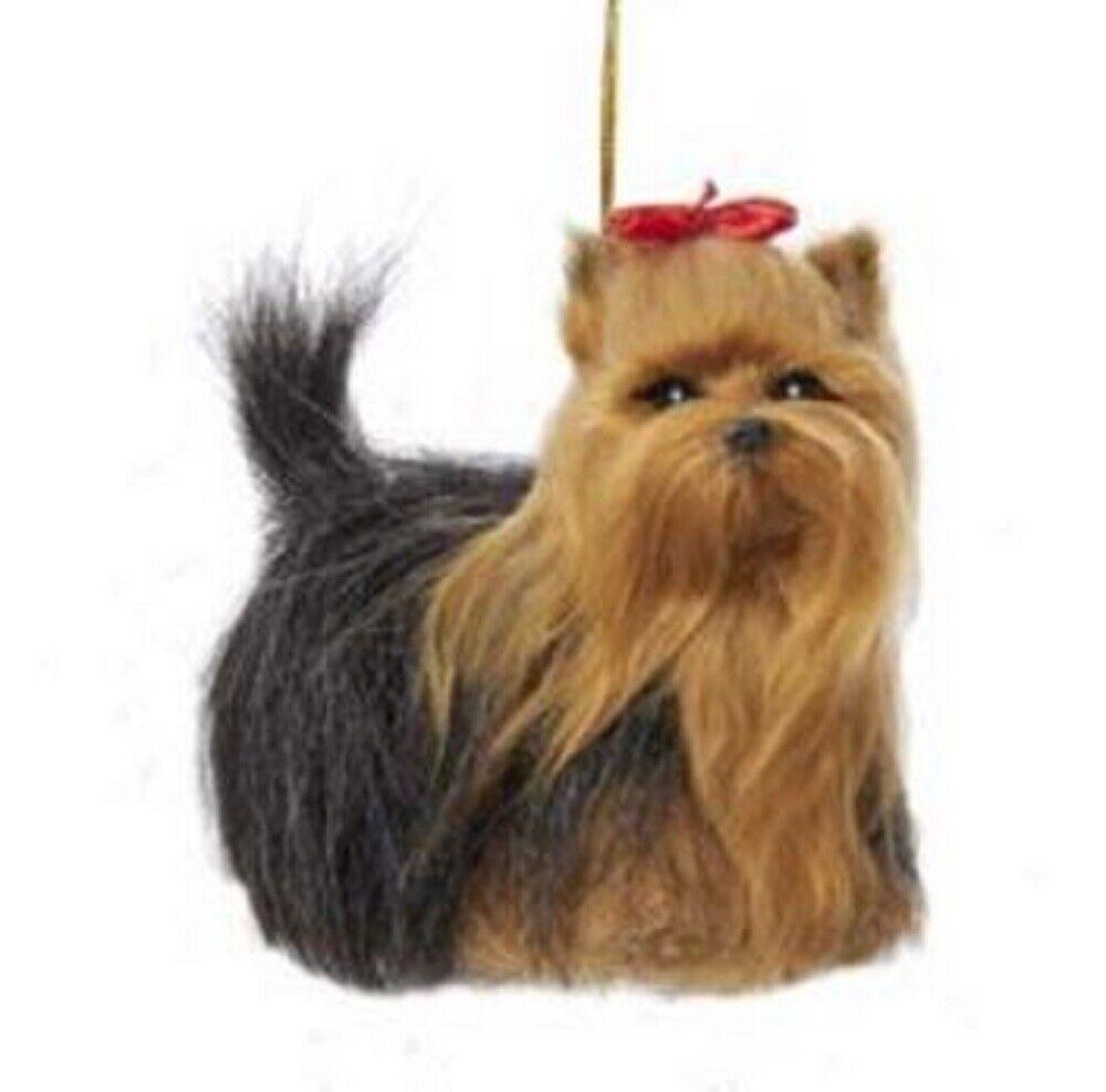 YORKIE puppy DOG ANGEL Ornament Figurine Statue NEW Christmas YORKSHIRE TERRIER