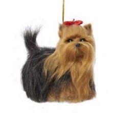 Yorkshire Terrier Dog Plush Stuffed Animal Christmas Ornament Pet Yorkie New