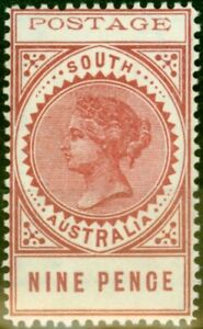 South-Australia-1903-9d-Rosy-Lake-SG283-P-12-Fine-amp-Fresh-Lightly-Mtd-Mint