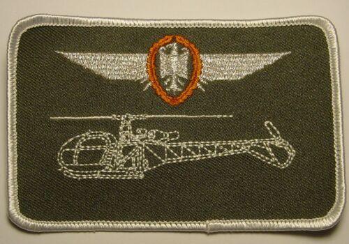 Aufnäher Patch Namemsschild Hubschrauber Alouette II Pilot in Bronze ....A3345