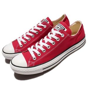 ee962221d04d Converse All Star OX Chuck Taylor Red White Men Canvas Classic Shoes ...