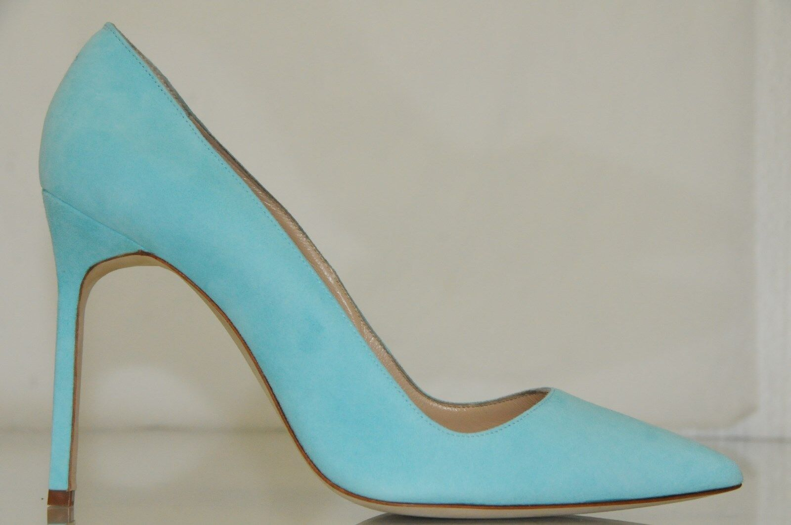 New Manolo Blahnik BB BB BB 105 Turquoise Suede chaussures Pumps 38 39 39.5 40 40.5 41 41.5 3b1bda