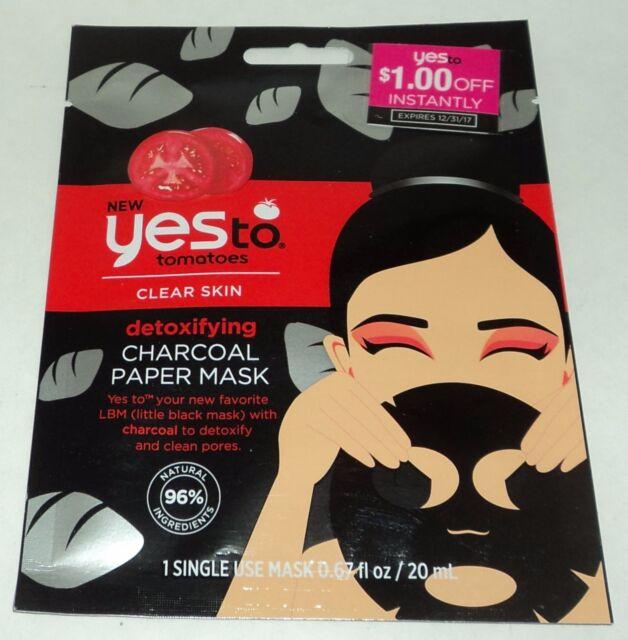 Sí a Tomates Desintoxicante Carbón Papel Máscara Individual Uso 96% Natural New