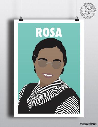 ROSA PARKS  Minimalist Strong Female Print Minimal Inspirational Women Poster