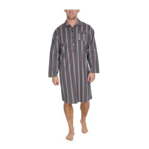 Chemise Homme à Manches Longues Longueur Genou Chemise de nuit sleepwear traditionnel Nightwear UK