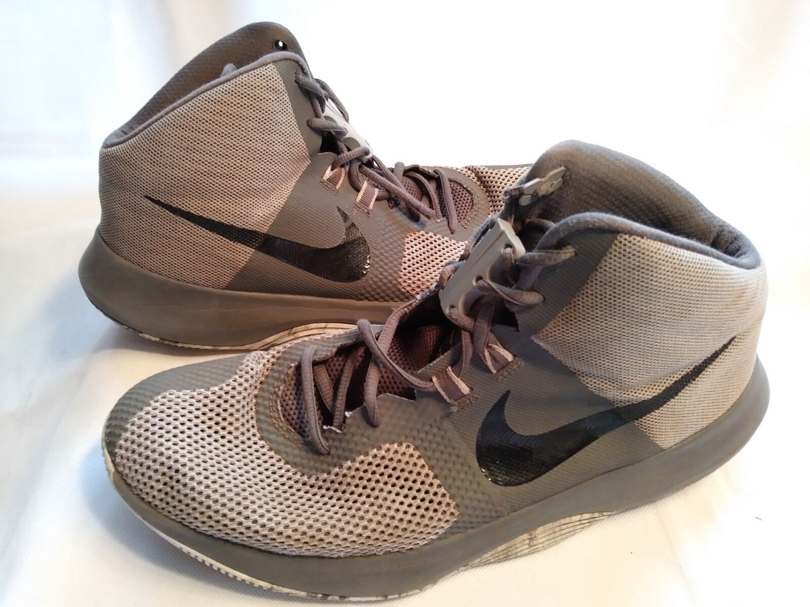 94cea23e0f3 Nike Air Precision Mens Basketball Shoes Size 11 Gray W Zubits Magnetic  Closures for sale online
