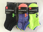 NWT Under Armour Womens Essential/Training Ankle Socks 6 Pair Multi No Show MD