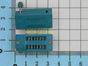 5pcs 14pin ZIF DIP IC Socket Green Test Universal IC MCU Socket Electronic DIY