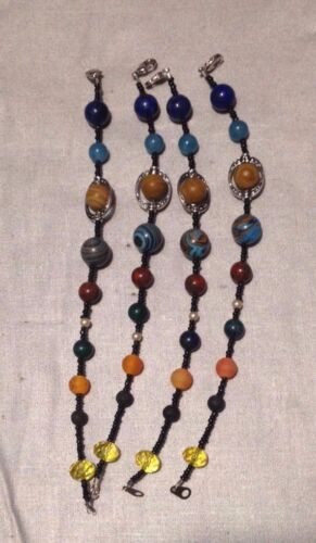 Crystal Artisan Made Antique Glass Sol System Stone and Glass Bracelet