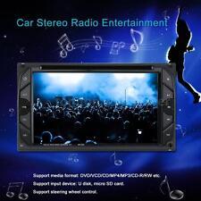 "6.2"" 2 DIN HD CAR DVD MP3 MP4 PLAYER BLUETOOTH RADIO AUX INPUT TOUCHSCREEN Q5K5"