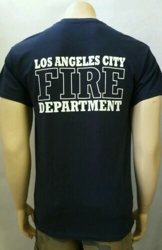 LOS ANGELES  CITY FIRE DEPARTMENT T-SHIRT Navy Tee  S 3XL