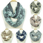 Elephant Printed Infinity Scarf Soft Lightweight