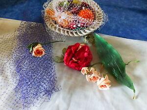 les fleurs -roses ancienneset les voilettes a chapeau -bleues et blanches 6CmnZmOQ-08042207-822397599