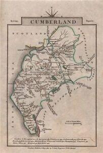 Cumberland Par John Cary. Miniature Antique Comté De Carte. Couleur Originale 1812-afficher Le Titre D'origine