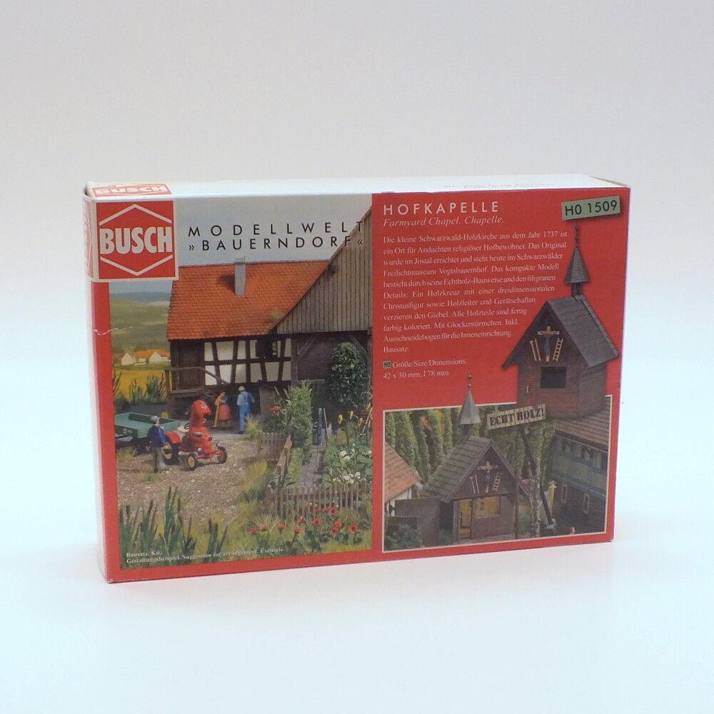 BUSCH 1509 Bausatz Hofkapelle aus echtem echtem echtem Holz Spur H0 1 87  | Ich kann es nicht ablegen  deec51