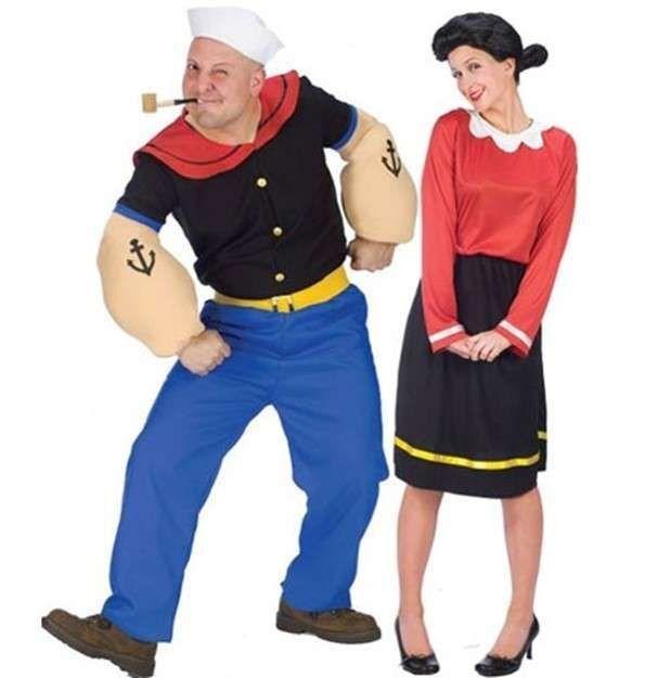 Classic Olive Oyl Popeye Adult Halloween Costume
