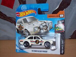 '70 Ford Escort Rs 1600 Blanc Hot Wheels Hw Modèle Voiture Collection Weels Muscle Car-afficher Le Titre D'origine Couleurs Fantaisie