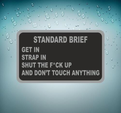 Sticker decal macbook car airplane aircraft airport pilot standart brief
