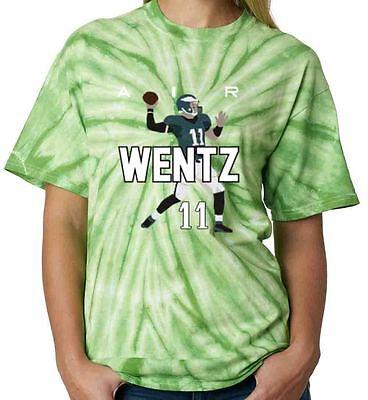 "TIE DYE Carson Wentz Philadelphia Eagles /""Logo/"" jersey  T-shirt"