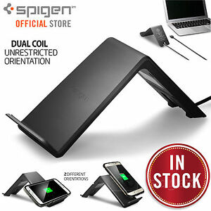 new concept cb5af 8d6c2 Details about Fast Wireless QI Charger Charging Stand Pad, Genuine Spigen  Essential F303W
