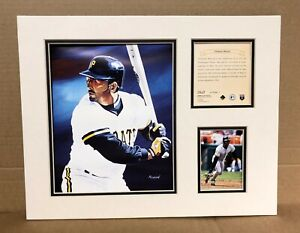 Pittsburgh Pirates ORLANDO MERCED 1995 Baseball 11x14 MATTED Kelly Russell Print