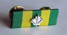 Canadian Corrections Exemplary Service Medal Undress Ribbon Bar Pin + Maple Leaf