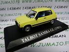 voiture 1/43 IXO altaya : TALBOT Samba GL 1981 jaune