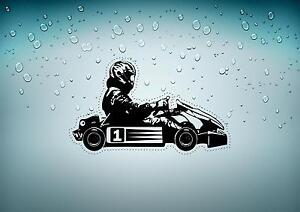 Autoadesivo-automobile-cameretta-bimbo-kart-go-kart-pilota-ref2-formule-1
