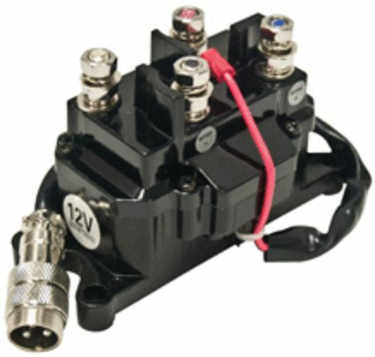12v Solenoid Relay Contactor & Winch Rocker Thumb Dash Switch Combo on