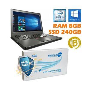Ordinateur PC Portable Lenovo THINKPAD X250 i5 5300U 8GB 240GB SSD Dual Batterie