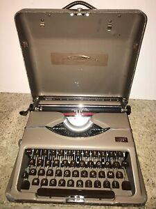 Machine-a-ecrire-voyage-Gossen-Tippa-56-coffre-metal-sacoche-facture-certificat