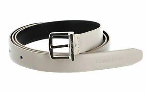 Calvin Klein Archive Square Buckle Belt W90 Gürtel Taupe Beige