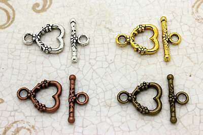 Silver Round Ring Shape Toggle Antiqued Necklace Bracelet Clasps Jump Ring Lot