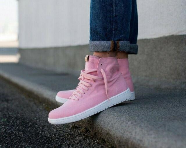 089c15bbb702e6 Nike Air Jordan 1 Retro High Decon Sheen White Vachetta UK 9 Pink ...