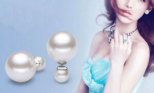 Lady-Elegant-Large-Double-Shell-Pearl-S-925-Silver-Princess-Earrings-Stud-Huggie
