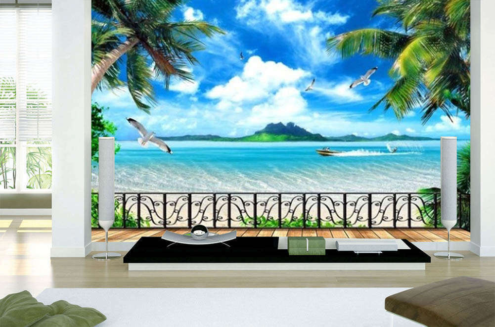 Beautiful Blau Sea 3D Full Wall Mural Photo Wallpaper Printing Home Kids Decor