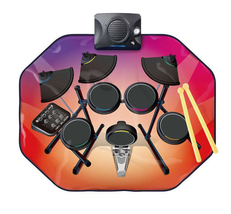 SixBros. Glowing Drum Kit Playmat Music Mat SLW9887 2194