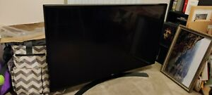 LG 43-inch Smart TV LED 4K - Broken screen, Freeview, remote, power cable, works