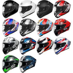Shoei-X-Fourteen-DOT-Snell-Full-Face-Motorcycle-Street-Helmet-Pick-Size-Color