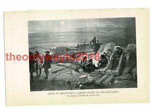 Siege of Sebastopol, Quiet Night the Batteries, Book Illustration (Print), 1934