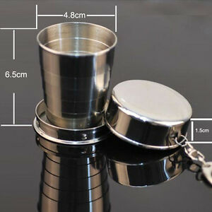 Usefully-New-Steel-Travel-Telescopic-Collapsible-Shot-Glass-Emergency-Pocket-Cup